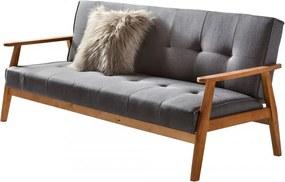 Canapea extensibila gri, 2 locuri