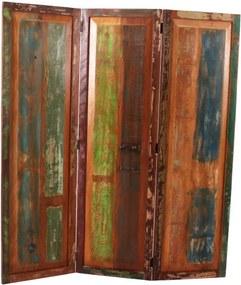 Despartitor de camera din lemn reciclat Riverboat 150 x 3 x 170 cm