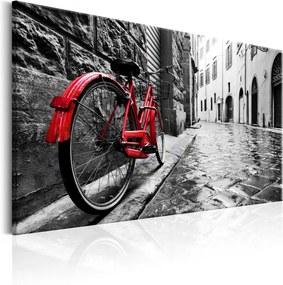 Tablou pe pânză - Vintage Red Bike 120x80 cm