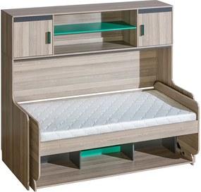Un pat cu birou si extensie de birou Numinos
