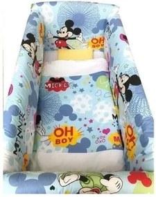 Deseda - Lenjerie de patut bebelusi 120x60 cm cu aparatori Maxi Mickey Mouse
