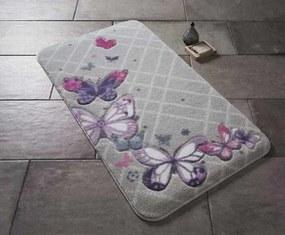 Set 2 Covorase de Baie - Butterfly Plaid Violet