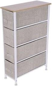 Comoda Grunberg , 20 x 48 x 75.5 cm, 4 sertare , BEJ/ALB, TB70