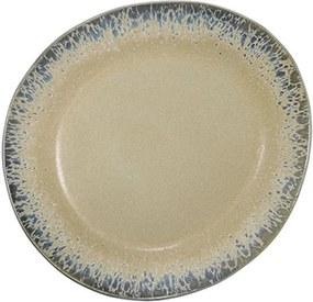 Farfurie intinsa crem din ceramica 22 cm Bark HK Living