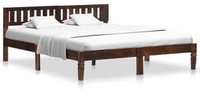 288407 vidaXL Cadru de pat, 160 cm, lemn masiv de mango