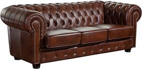 Canapea din piele Max Winzer Norwin, 200 cm, maro
