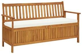 45911 vidaXL Bancă de depozitare cu pernă, 148 cm, lemn masiv de acacia