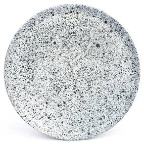 Farfurie mică din gresie ÅOOMI Mess, ø 20 cm, alb - negru