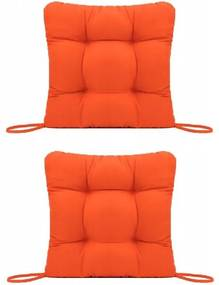 Set Perne decorative pentru scaun de bucatarie sau terasa, dimensiuni 40x40cm, culoare Orange, 2buc/set