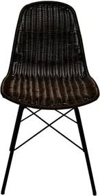 Set 2 scaune din ratan sintetic RGE Kummin