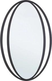 Oglinda decorativa perete cu rama metal neagra Nabira 52 cm x 80h