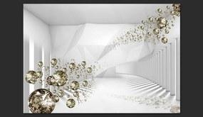 Fototapet Bimago - Diamond Corridor + Adeziv gratuit 300x210 cm