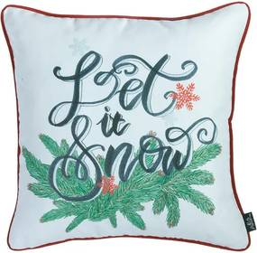 Față de pernă cu model de Crăciun Apolena Honey Let It Snow, 45 x 45 cm