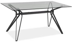 Masa dining Sticla Temperata / Gri, TIVOLI 160X90