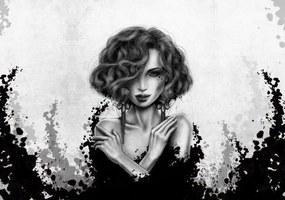 Fototapet - Portret de femeie (254x184 cm), în 8 de alte dimensiuni noi