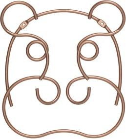 Cuier de perete în formă de hipopotam Metaltex, lățime 24 cm