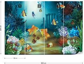 Fototapet GLIX - Undersea Fish + adeziv GRATUIT Papírová tapeta  - 368x254 cm