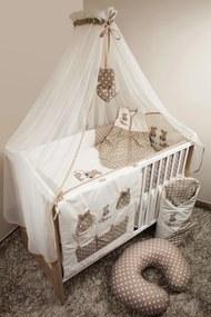 Set de așternuturi de pat pentru copii 120 x 90 cm.cu tema unui iepuraș maro baldachin