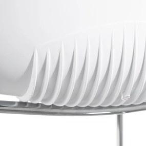 Scaun MODERN ROOM  Alb din Plastic si Metal 40cm IXIA - Plastic Alb Lungime (46cm) x Latime (40cm) x Inaltime (78cm)