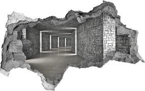 Fototapet 3D gaură în perete Tunel cărămidă