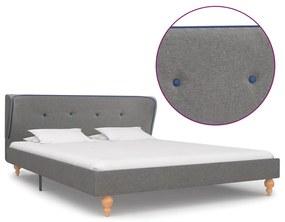 280574 vidaXL Cadru de pat, gri deschis, 140 x 200 cm, material textil