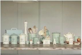Recipient ceramic pentru sare T&G Woodware Pride of Place Old Green, verde