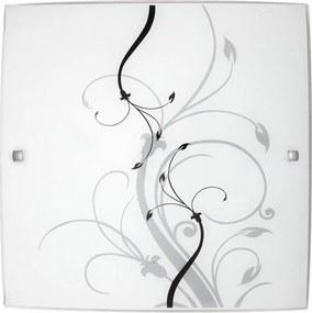 Rábalux Elina 3693 Plafoniere alb negru E27 2x MAX 60W 400 x 400 mm