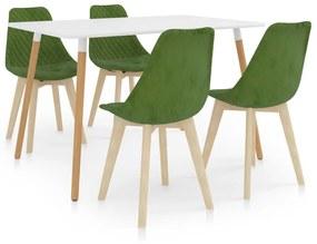 3055929 vidaXL Set de masă, 5 piese, verde deschis