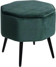 Puf Verde din Catifea 41cm IXIA - Catifea Verde Lungime (41cm) x Latime (42.5cm) x Inaltime (40cm)