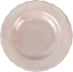 Farfurie adanca Royal Rose din ceramica roz 23 cm