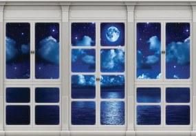 Fototapet - Cerul în geamul nocturn (152,5x104 cm), în 8 de alte dimensiuni noi