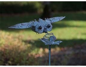 Figurina metal Flying owl, 130x30x35 cm