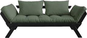 Canapea extensibilă Karup Design Bebop Black, verde