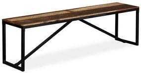 244903 vidaXL Bancă, 160x35x45 cm, lemn masiv reciclat