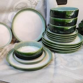 Set 18 farfurii Nature din ceramica