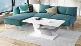 Mazzoni CLIFF MAT alb + beton, masă de cafea