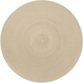 Suport rotund pentru farfurie Zic Zac Round Chambray, ø 38 cm, verde