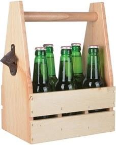 Suport din lemn pentru sticle, cu deschizător, Ego Dekor Farma