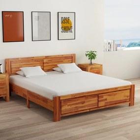 3056371 vidaXL Cadru de pat cu 2 noptiere, 160 x 200 cm, lemn masiv de acacia