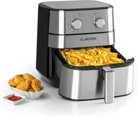 Klarstein AeroVital, friteuză de aer cald, 5.4 litri, 1700 W, cronometru, oțel inoxidabil, argintiu