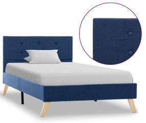 284822 vidaXL Cadru de pat, albastru, 90 x 200 cm, material textil