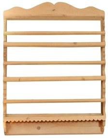Blidar Cassa din lemn natur 75x15x96 cm
