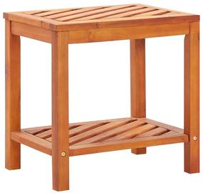 44067 vidaXL Masă laterală, 45x33x45 cm, lemn masiv de salcâm
