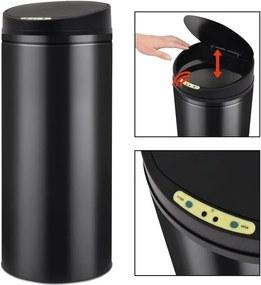Coș de gunoi cu senzor automat 62 L, negru