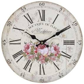 Ceas de perete Pink Madeleine 34 cm