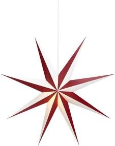 Decorațiune suspendată luminoasă Markslöjd Saturnus, ø 75 cm, alb - roșu