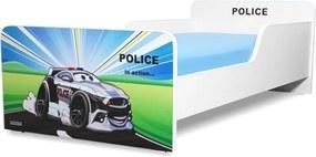 Pat copii  Police 2-12 ani cu saltea cadou