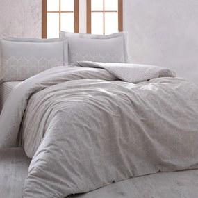 Lenjerie de pat din bumbac cu cearșaf pentru pat dublu Lace, 200 x 220 cm