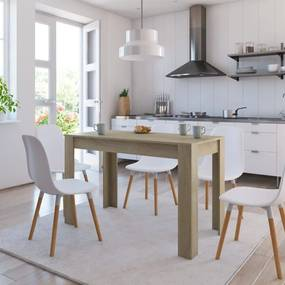 800435 vidaXL Masă de bucătărie, stejar Sonoma, 120 x 60 x 76 cm, PAL