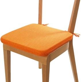 Pernă de şezut cu husă lavabilă BESSY, portocalie 1 buc